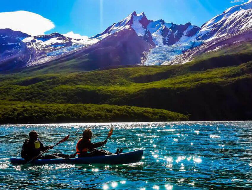 kayak lago del desierto